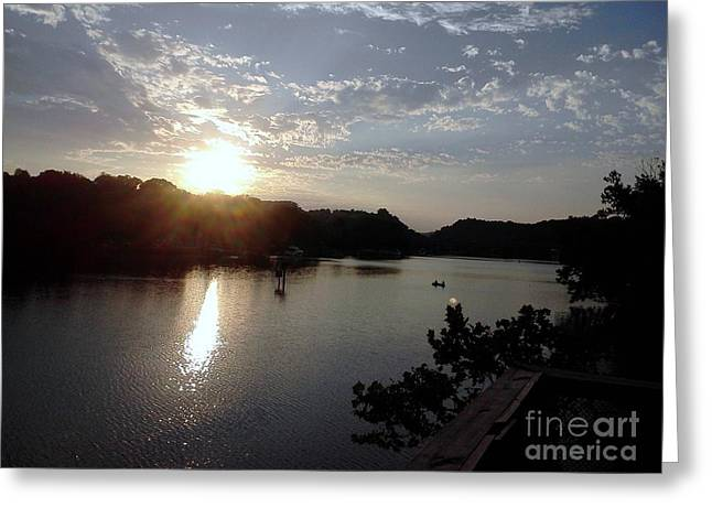 Sunset At Occoquan Greeting Card