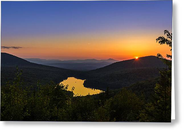 Sunset At Owls Head Greeting Card
