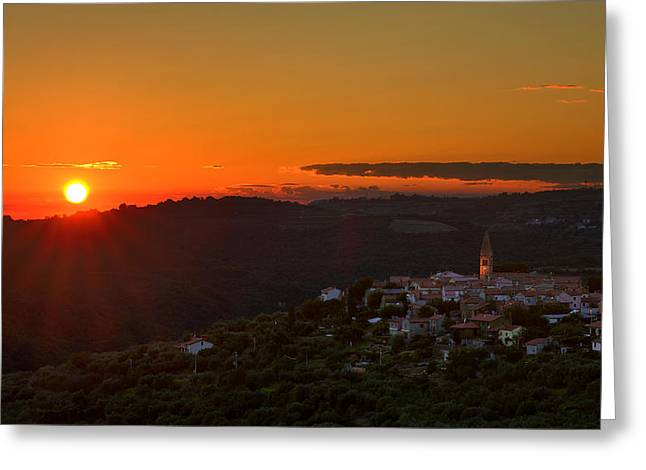 Sunset At Padna Greeting Card