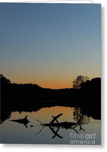 Sunset At Paulinskill Lake Greeting Card