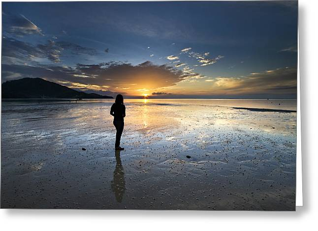 Greeting Card featuring the photograph Sunset At Phuket Island by Ng Hock How