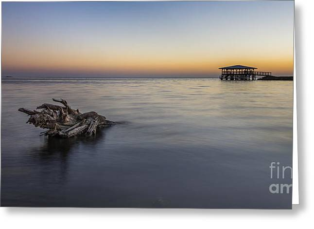 Sunset At Port St. Joe Greeting Card by Twenty Two North Photography
