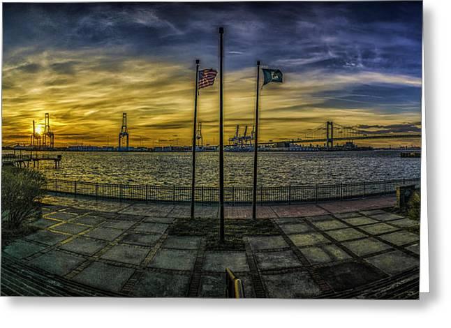 Sunset At Proprietors Park Greeting Card by Nick Zelinsky