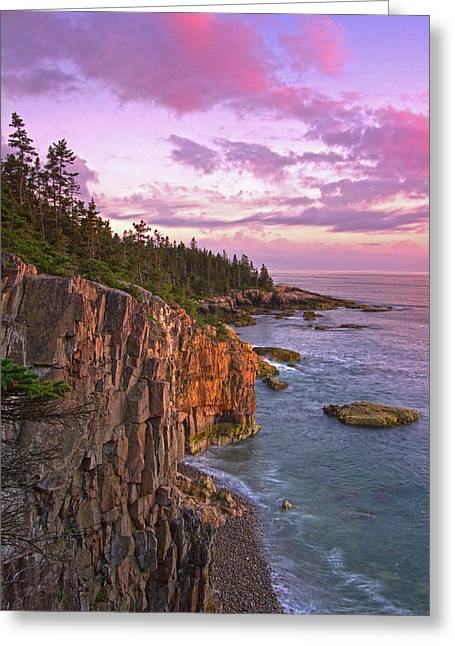 Greeting Card featuring the photograph Sunset At Ravens Nest by Juergen Roth
