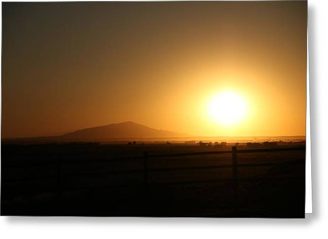 Sunset At Roswell New Mexico  Greeting Card