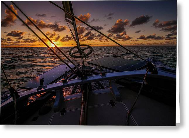 Sunset At Sea Greeting Card