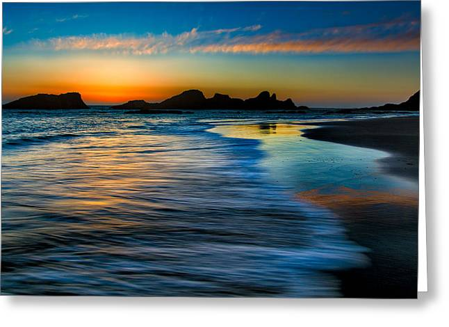 Sunset At Seal Rock Oregon Greeting Card