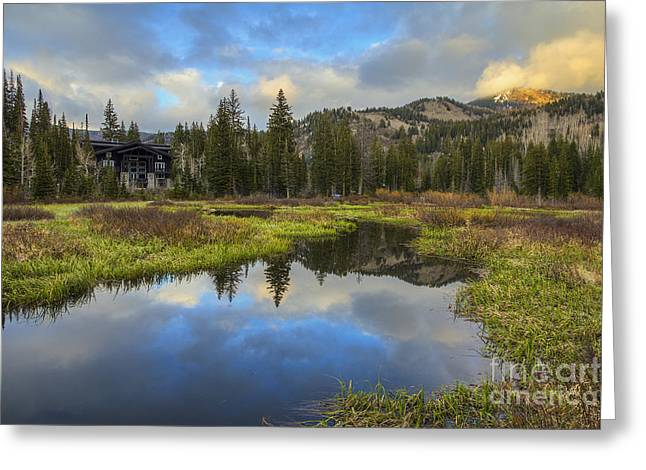 Sunset At Silver Lake Outlet Greeting Card