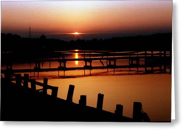 Sunset At Smithfield Station Greeting Card