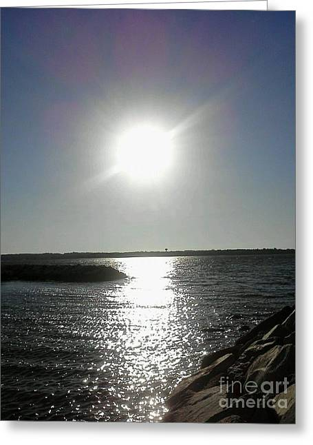 Sunset At Solomons Island Md Greeting Card