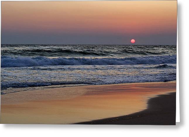 Panama City Beach Greeting Cards - Sunset at St. Andrews Greeting Card by Sandy Keeton