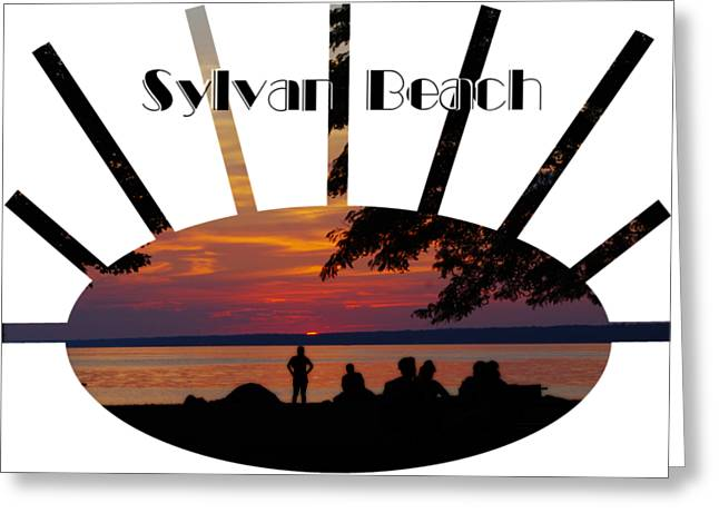 Sunset At Sylvan Beach - T-shirt Greeting Card by Lori Kingston