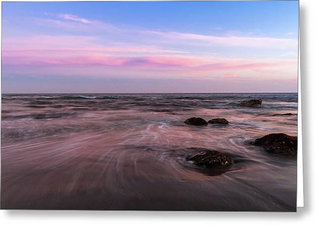 Sunset At The Atlantic Greeting Card