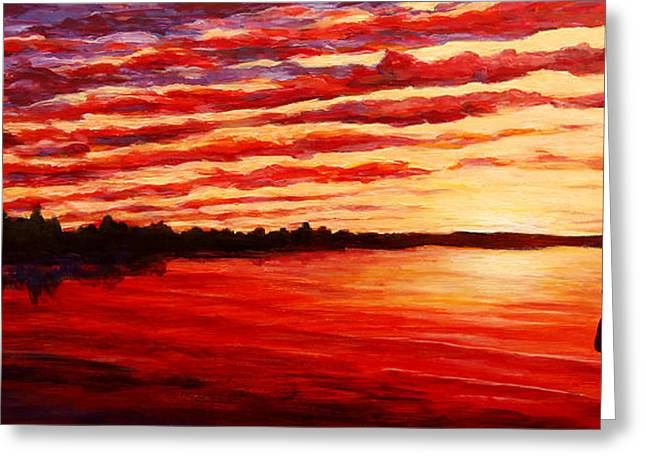 Sunset At The Bay Greeting Card by Douglas Keil