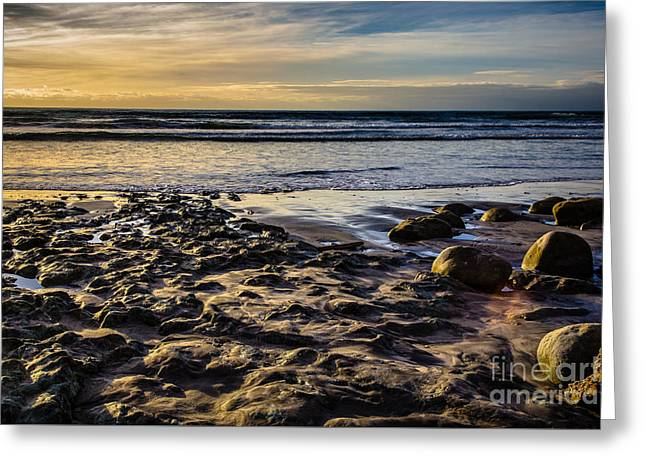 Sunset At The Beach Greeting Card by Randy Bayne
