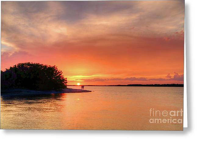 Sunset At The Beach Greeting Card by Rick Mann