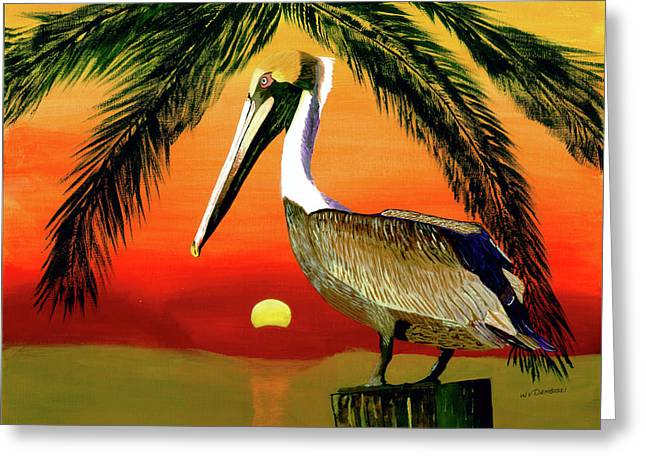 Sunset At The Beach Greeting Card by William Demboski