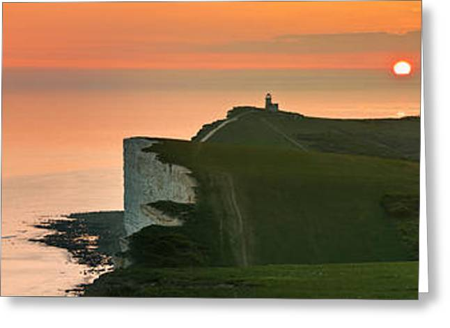 Sunset At The Belle Tout Lighthouse Greeting Card
