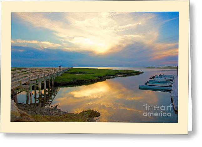 Sunset At The Boardwalk Greeting Card
