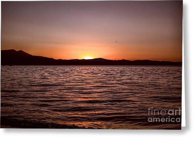Sunset At The Lake 2 Greeting Card