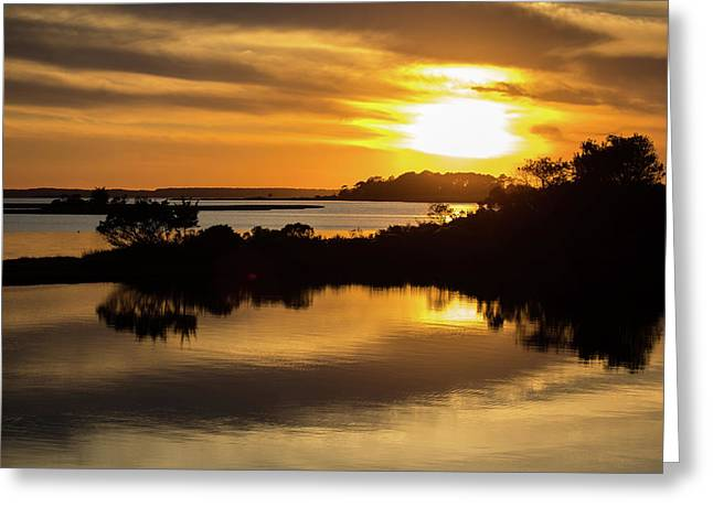 Sunset At The Marsh Greeting Card