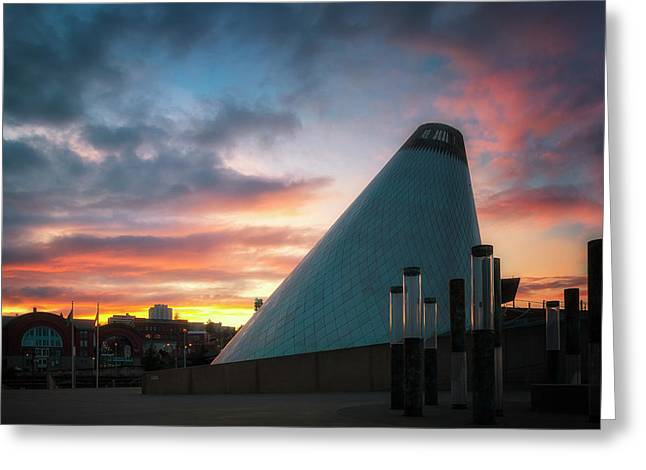 Sunset At The Museum Of Glass Greeting Card by Ryan Manuel