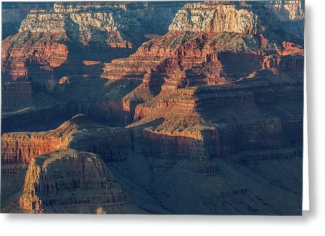 Sunset At The South Rim, Grand Canyon Greeting Card