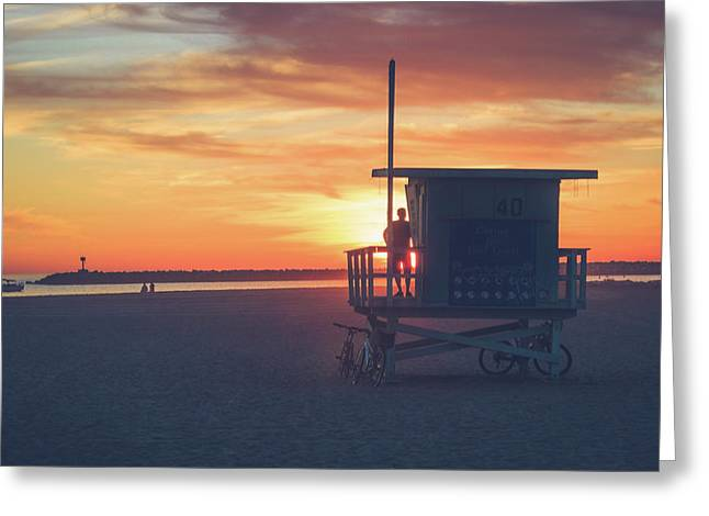 Sunset At Toes Beach Greeting Card