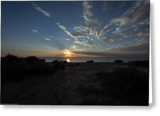 Greeting Card featuring the photograph Sunset At Torrey Pines by Jeremy McKay