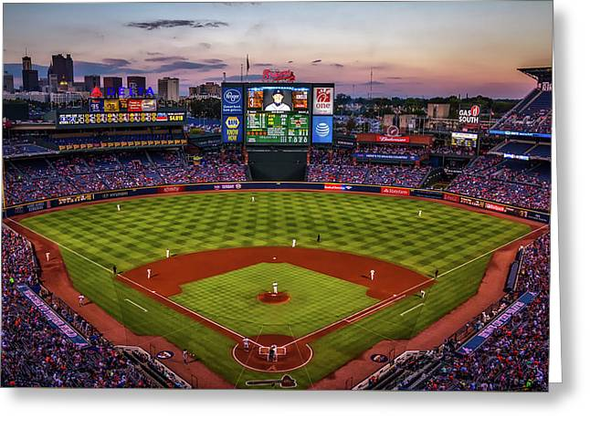 Sunset At Turner Field - Home Of The Atlanta Braves Greeting Card
