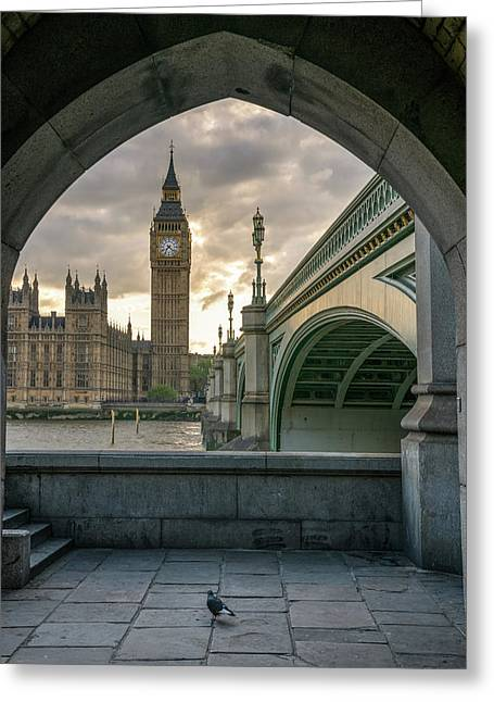 Sunset At Westminster Greeting Card