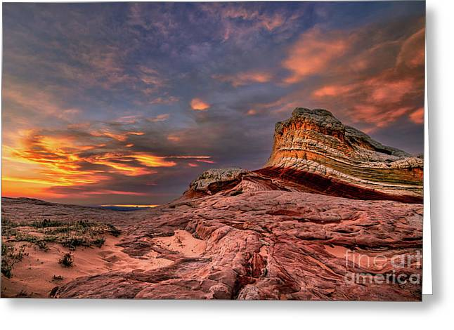Sunset At White Pocket Greeting Card