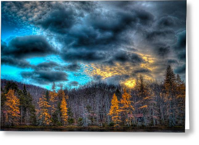Sunset At Woodcraft Camp Greeting Card by David Patterson