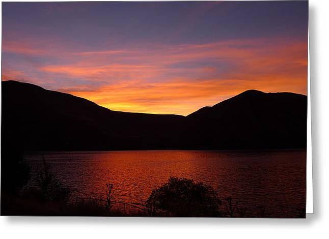 Greeting Card featuring the photograph Sunset At Woodhead Campground  by Joel Deutsch