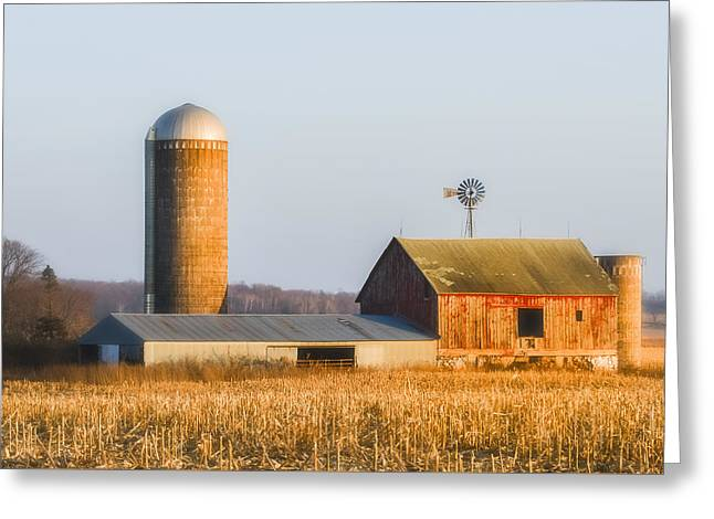 Greeting Card featuring the photograph Sunset Barn by Dan Traun