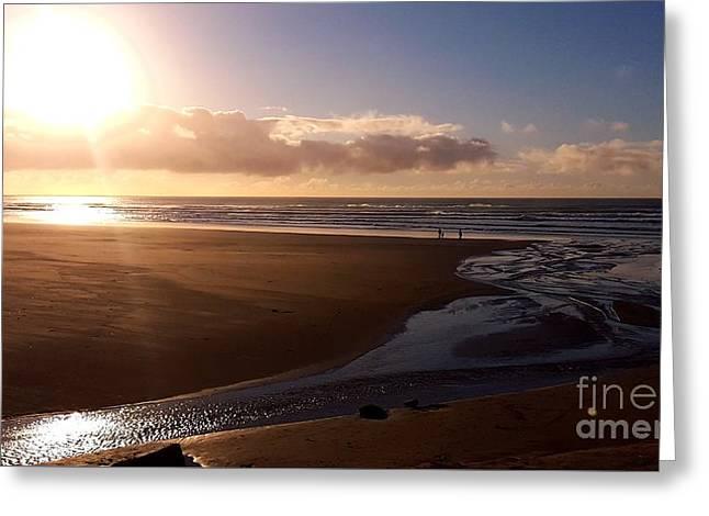Sunset - Bastendorff Beach Greeting Card