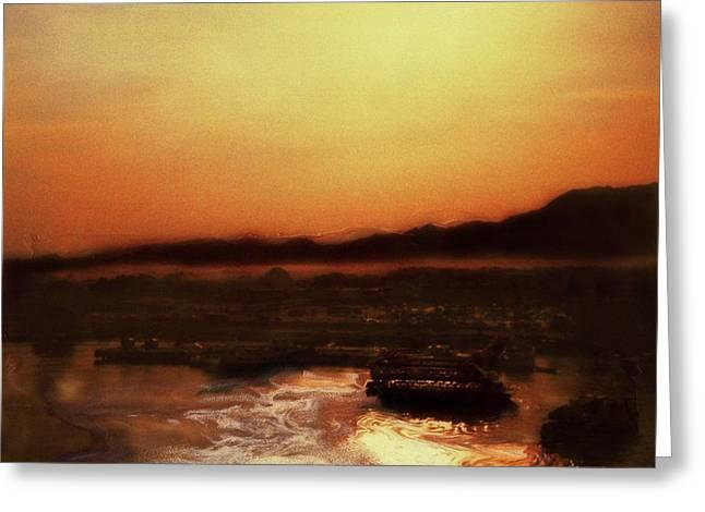 Sunset Bay  Greeting Card by Paul Tokarski