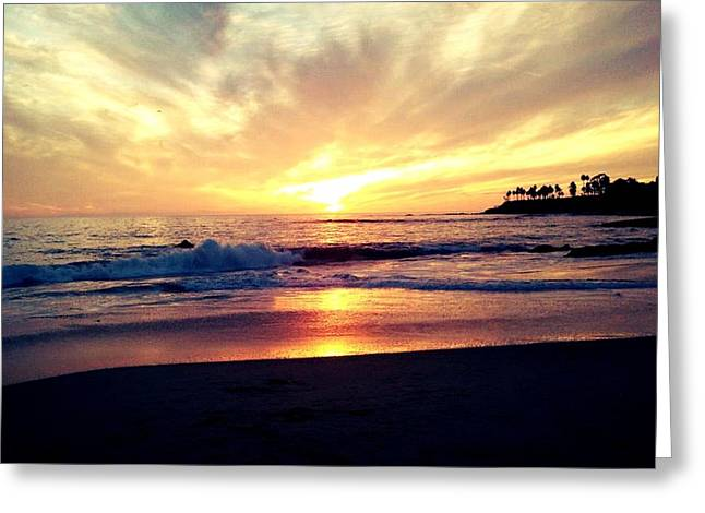 Sunset Beach Greeting Card by 2141 Photography