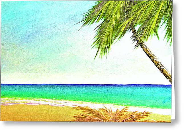 Sunset Beach #373 Greeting Card by Donald k Hall