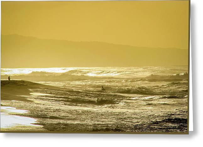 Sunset Beach Aglow  Greeting Card