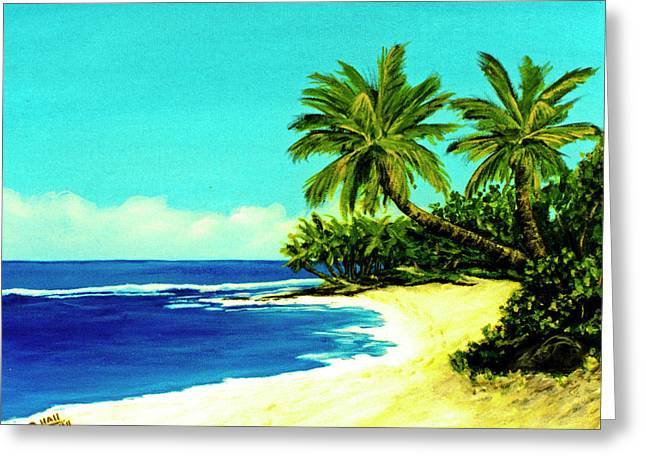 Sunset Beach Art North Shore Of Oahu In Summer #100 Greeting Card by Donald k Hall