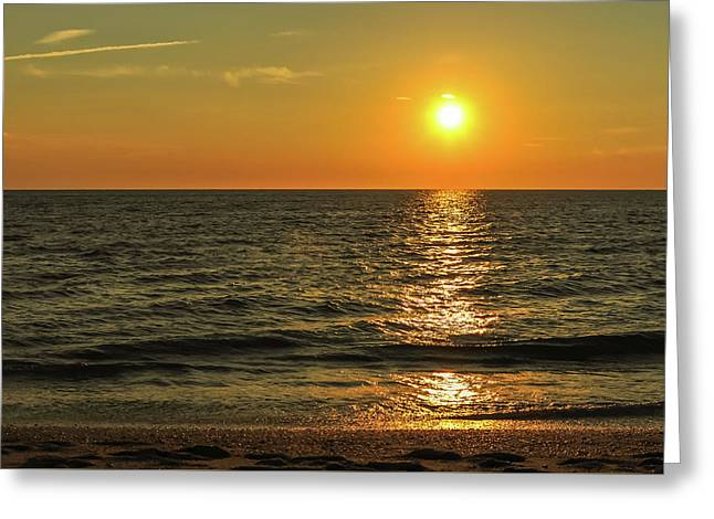 Sunset Beach Cape May Point New Jersey  Greeting Card by Terry DeLuco