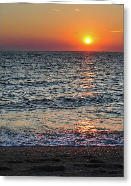 Sunset Beach Cape May Point New Jersey V  Greeting Card by Terry DeLuco