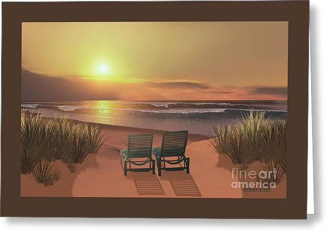 Sunset Beach Greeting Card by Corey Ford
