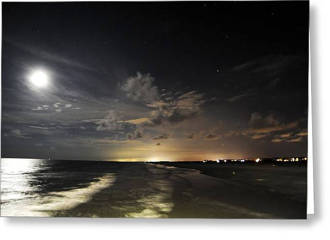 Sunset Beach  Greeting Card by Don Mennig