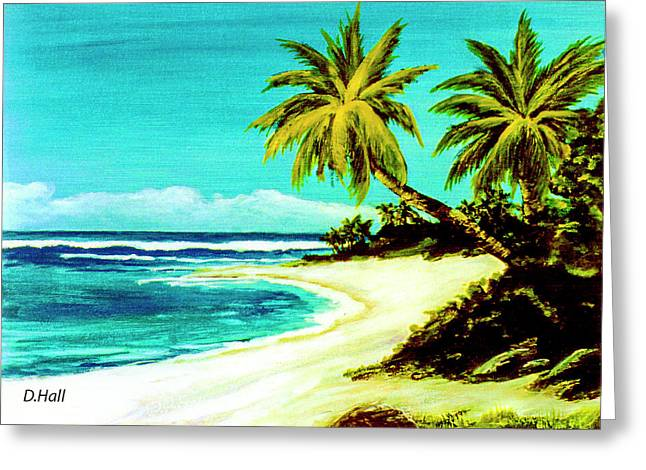 Sunset Beach Hawaiian #113 Greeting Card by Donald k Hall