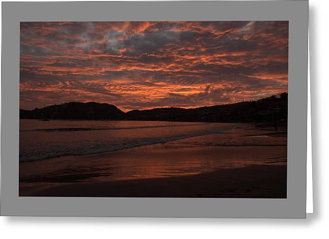 Sunset Beach Greeting Card by Jim Walls PhotoArtist