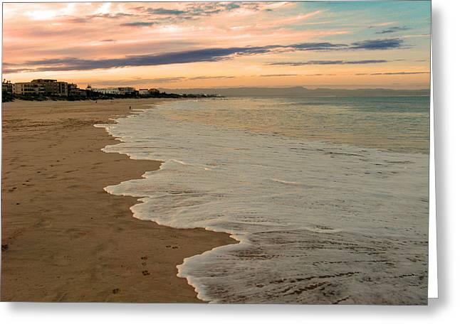 Greeting Card featuring the photograph Sunset Beach by Riana Van Staden