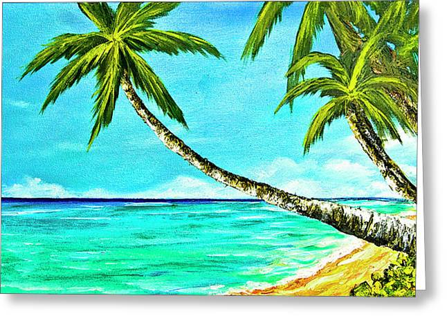 Sunset Beach#370  Greeting Card by Donald k Hall