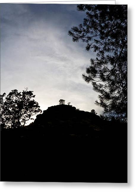 Sunset Behind The Hill Greeting Card by Charlie Osborn